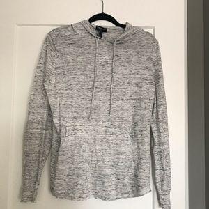 Grey hooded men's top